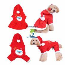 Christmas Pet Dog Couples Dress Warm Dog Hoodie Sweaters Coat Sweet Girl Skirt Boy Shirt With Hat(China (Mainland))