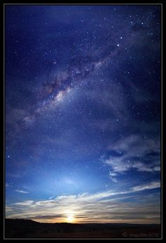 A waning gibbous moon rises on the eastern horizon, watched over by the central bulge of the Milky Way. In the top right of frame is the Southern Cross (Crux) Constellation. Just next to that is the dark coal sack nebula.   By Greg Gibbs