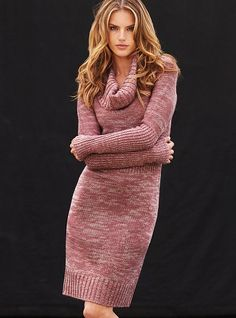 ecfe573c1cbf Correctly chosen yarn can make a simple knitted dress look so warm and  snug! Winter