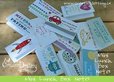 Mini Lunch Box Note Cards for Kids by ACreativeDestiny on Etsy