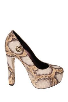 Cashhimi Italian Leather Platform Pump by Shoe Closet on @HauteLook