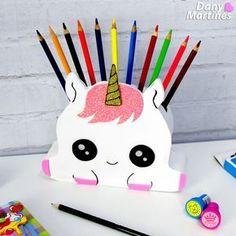 Porta Lápis de unicornio fofinho cute kawaii
