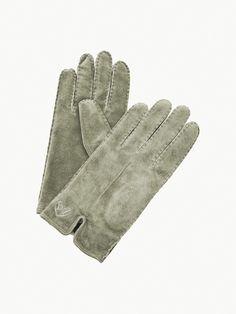 Murrayfiled Wildleder Handschuhe moosgruen