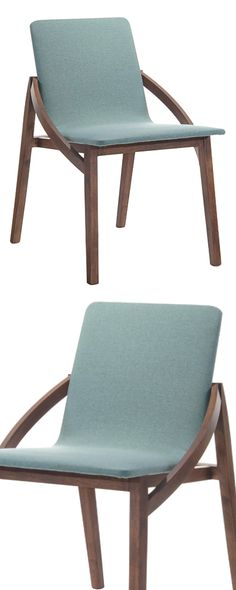 Keeping with Danish modern design, our Milla Dining Chair is a seamless convergence of function and form. The chair features a fluid frame of solid rubberwood that hugs a cushioned seat in sky blue. It...  Find the Milla Dining Chair - Set of 2, as seen in the A Brownstone in Brooklyn Collection at http://dotandbo.com/collections/a-brooklyn-brownstone?utm_source=pinterest&utm_medium=organic&db_sku=117586