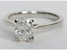 Oval petite cathedral solitaire, blue nile