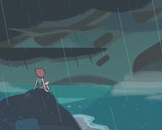 Pearl in the rain