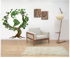 Árvore com expressão de cuidado com o planeta, charmosa