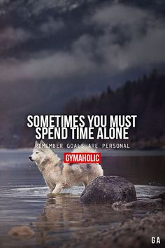 Sometimes You Must Spend Time Alone Remember goals are personal. http://www.gymaholic.co