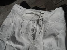 WW2 Royal Navy Officers White Cotton Tropical Uniform Shorts