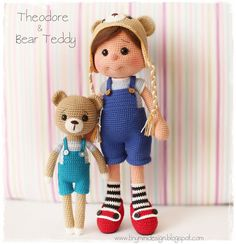 Amigurumi Theodore Doll and Teddy Bear | Tiny Mini Design