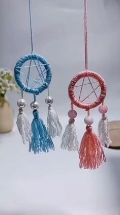 Diy Crafts For Home Decor, Diy Crafts Hacks, Diy Crafts For Gifts, Creative Crafts, Yarn Crafts, Arts And Crafts, Homemade Wall Decorations, Rope Crafts, Dream Catcher Craft