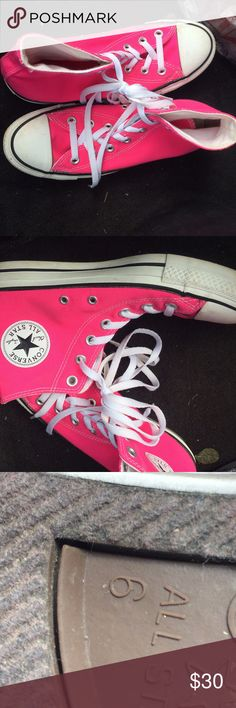 Men's Converse All pink for men size 6 worn but decent condition Converse Shoes Athletic Shoes