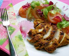 Fast Days and Feast Days: Diet Recipe - Herb and Spice Crusted Baked Chicken Breasts calories) (Alternate Fast Diet) No Calorie Foods, Low Calorie Recipes, Diet Recipes, Chicken Recipes, Cooking Recipes, Healthy Recipes, Primal Recipes, Baked Chicken Breast, Chicken Breasts