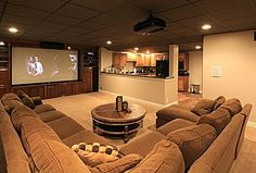 Explore this Home Theater design posted by Rick & Donna Hamblen. View estimated - Projector - Ideas of Projector - Explore this Home Theater design posted by Rick & Donna Hamblen. View estimated costs list of materials needed and estimated labor costs. House Design, Home Theater Design, Man Cave Home Bar, Family Room, Home, Basement Remodeling, New Homes, Bars For Home, Contemporary House