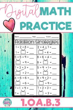 These math practice sheets allow your students to practice and gain mastery of the first grade standard 1.OA.B.3; Apply Properties of Operations to Add or Subtract. Created in Google Slides, this resource can be used in the classroom or at home for distance learning. These worksheets can also be used as an assessment tool so that you can move your instruction forward, tailor your students' instruction to their developmental level, provide feedback, and use for grading. Click to see more!