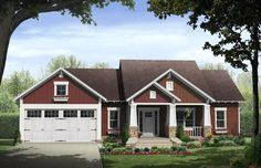 House Plan - 348-00243 - This fabulous one story Craftsman House Plan offers approximately 1,801 square feet of living space w/3 bedrooms and 2 baths. A split bedroom plan, open layout and choice of a slab, crawl space or unfinished basement option makes this home design an ideal choice for families.