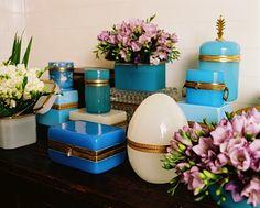 Opaline boxes