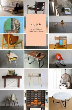 Poppytalk shares 25 awesome Etsy furniture finds.