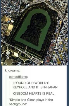 Kingdom Hearts in real life.... AAAHHH!!!!!!! Who's up for a plane ride?!