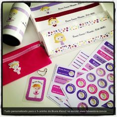 Etiquetas personalizadas para as coisinhas das crianças
