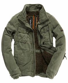 Superdry On Duty Utility Jacket - Men's Jackets Military Fashion, Mens Fashion, Fashion Outfits, Vest Jacket, Leather Jacket, Celebridades Fashion, Looks Style, My Style, Style Masculin