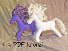 Felt Horse Making Pattern felt horse horse pattern by Leguanworld
