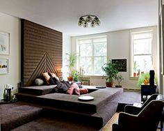 Image result for how to decorate a living room with no windows