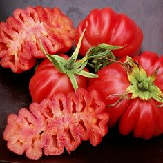 Zapotec ruffled tomato, rare Mexican heirloom 25 seeds, loves dry heat, sweet flavor, scalloped slices, drought tolerant.