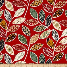 Karma Vrin Davin Red from @fabricdotcom  From Contempo, designed by maggie and Flo for Benartex, this cotton print collection features abstract designs in muted colorways for a natural feel. Perfect for quilting, apparel, and home decor accents. Colors include red, white, brown, tan, mustard, and green.