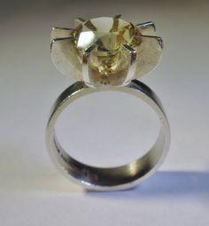 Kupittaan Kulta. Citrine silver ring. Designed by NB.