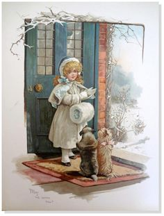 """Harriett Mary Bennett illustration from book """"When all is young"""" 1895."""