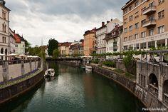 El río Ljubljanica a su paso por Ljubljana