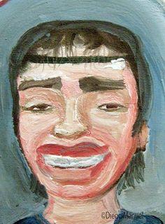 Dieguito Maradona. Pintura sobre el futbol argentino a la venta del artista…