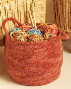 large crocheted stash basket pattern