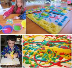 Diy Projects: Homemade Puffy Paint Ideas For Kids