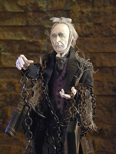 The Ghost of Jacob Marley from Charles Dickens' A Christmas Carol, figure by Creager Studios Christmas Carol Ghosts, Christmas Carol Charles Dickens, Ghost Of Christmas Past, A Christmas Story, Christmas Scrooge, Victorian Christmas, Vintage Christmas, Dracula, Xmas Carols
