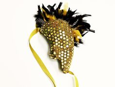Discotheque Recycled Paper Masquerade Mask by TARAIZE on Etsy, $55.00