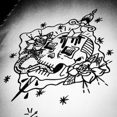 Traditional tattoo sketch