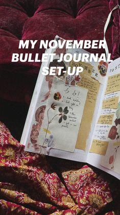 Bullet Journal Set Up, Junk Journal, Seed Paper, Journalling, Filofax, Creative Writing, Healer, November, Calendar