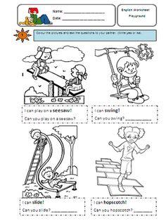 Teaching-Frenzy: Playground activities - Worksheet