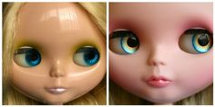 I want the eye chips in the after picture for my Blythe! They are so pretty!