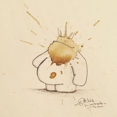 http://www.fubiz.net/2015/07/06/funny-monster-drawings-made-from-coffee-stains/
