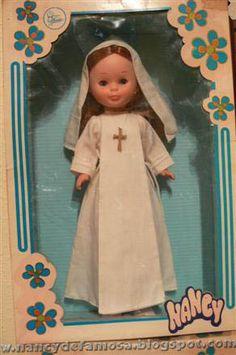 muñeca nancy comunión años 1960