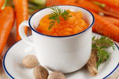 Carrot and Ginger Puree from Deerfield Inn Canada Food Guide, Acid Reflux Recipes, Carrot And Ginger, Jus D'orange, Winter Soups, Heart Healthy Recipes, Group Meals, Soup Recipes, Food Processor Recipes