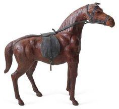 Leather Horse     Figurine
