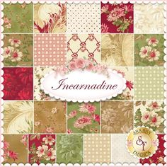 Incarnadine 25 FQ Set By Robyn Pandolph For RJR Fabrics: Incarnadine is a floral collection by Robyn Pandolph for RJR Fabrics. 100% Cotton. This set contains 25 fat quarters, each measuring approximately 18
