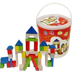(34.44$)  Buy here - http://aiuqo.worlditems.win/all/product.php?id=32780772092 - 40pcs Wooden Building Blocks Kids Baby Assemblage Games