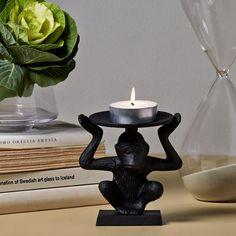 Kynttilänjalka Apa 13cm 16,95 #kynttilänjalka #sisustus #hemtex Candle Holders, Candles, Porta Velas, Candy, Candle Sticks, Candle Stand, Candle