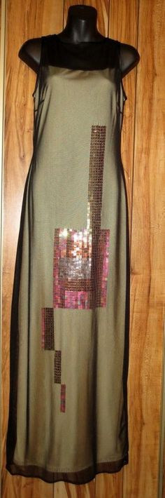 New Woman's The Limited Stretch Slinky Sheer Sequined Maxi Dress Size 6 MSRP $98 Now a Low $24.87