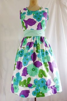 vintage sheet dress, too cute
